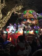 The Krewe of Bacchus rolls through the Uptown in New Orleans.