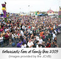 Enthusiastic Fans at Family Gras