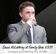 Jesse McCartney at Family Gras