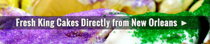 Fresh King Cakes Directly from New Orleans