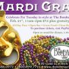 Celebrate Mardi Gras 2012 at the Bombay Club