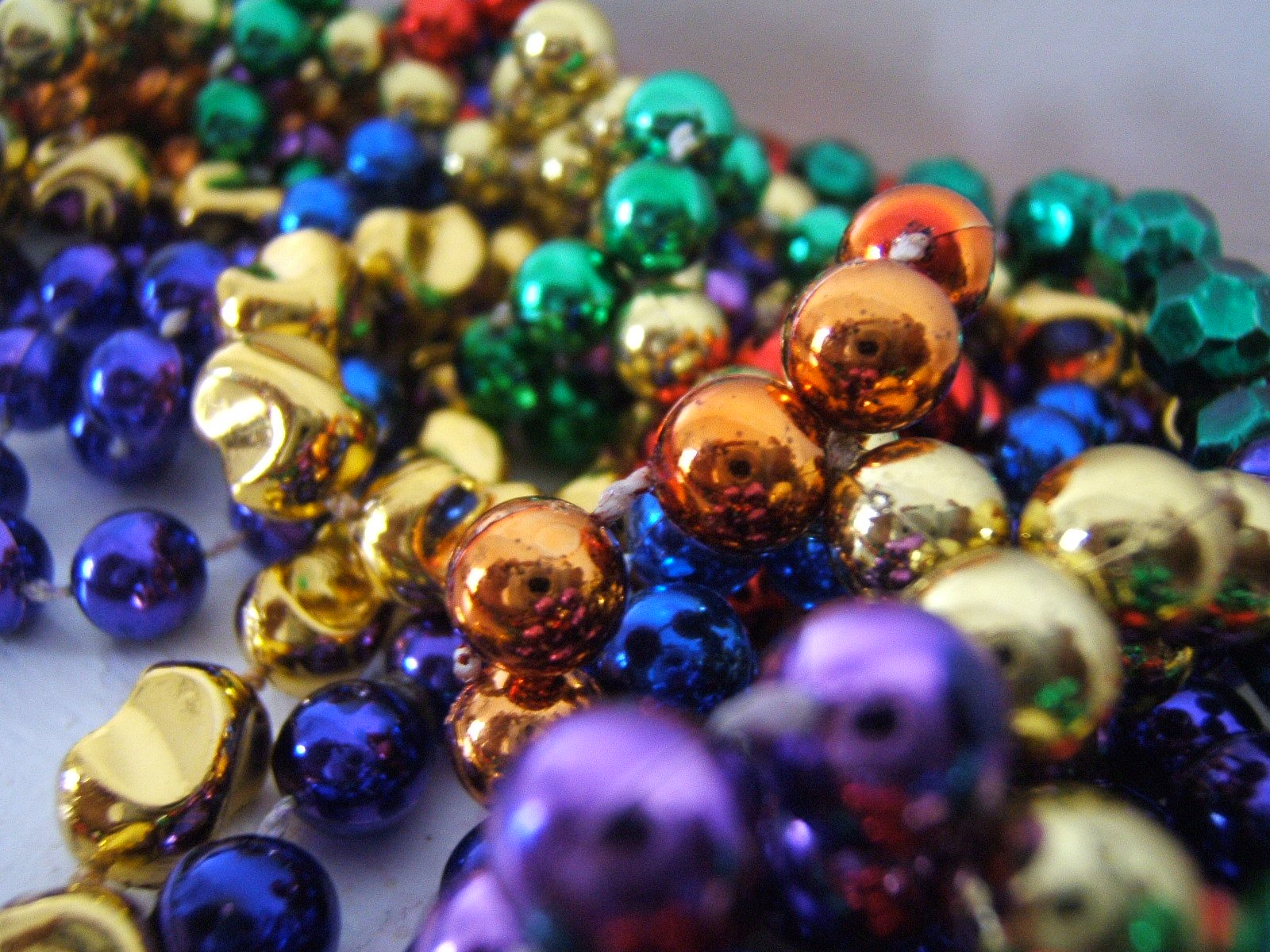 To do with all of the old mardi gras beads that you have stockpiled