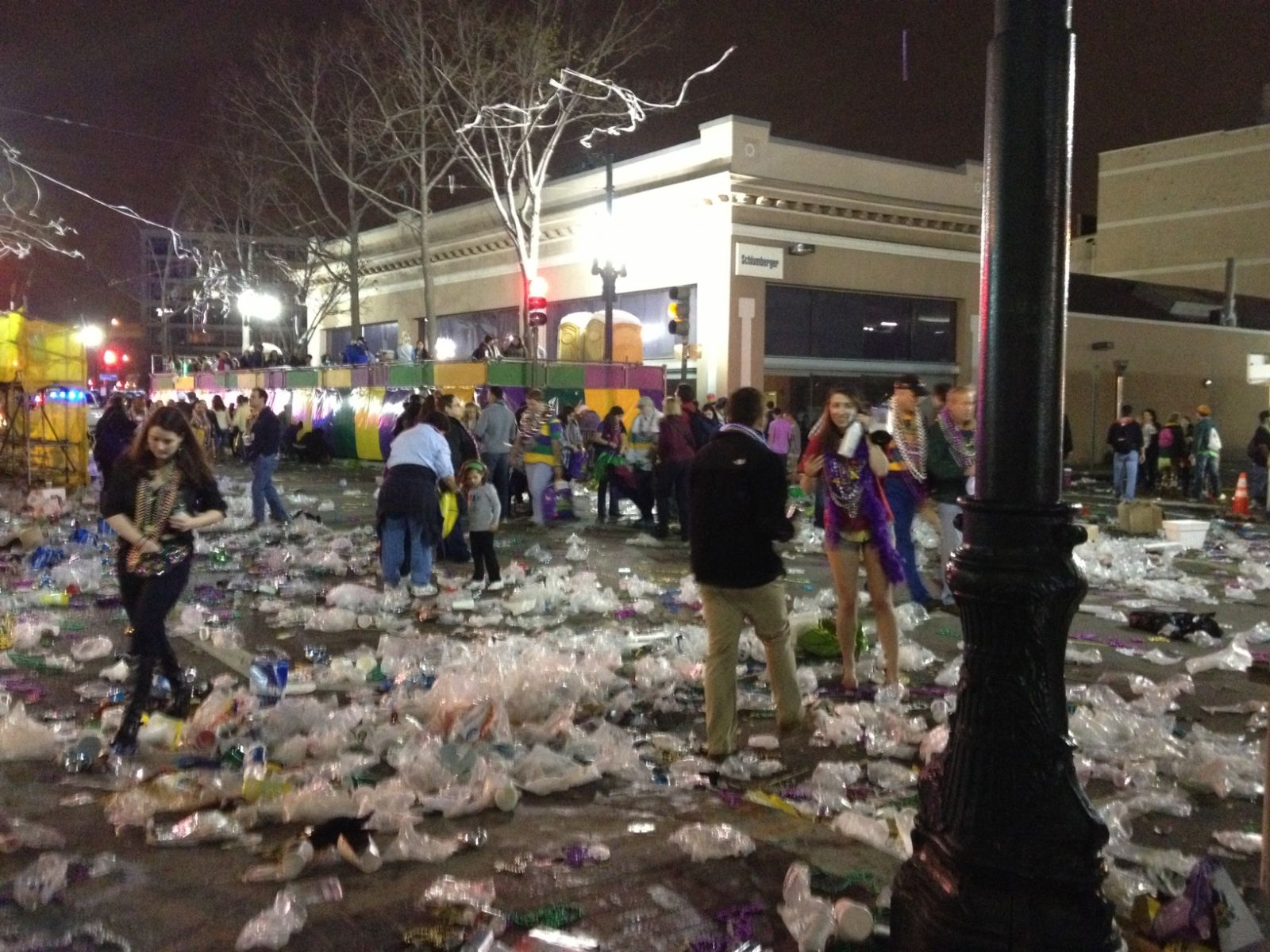 Trash Leftover From Mardi Gras