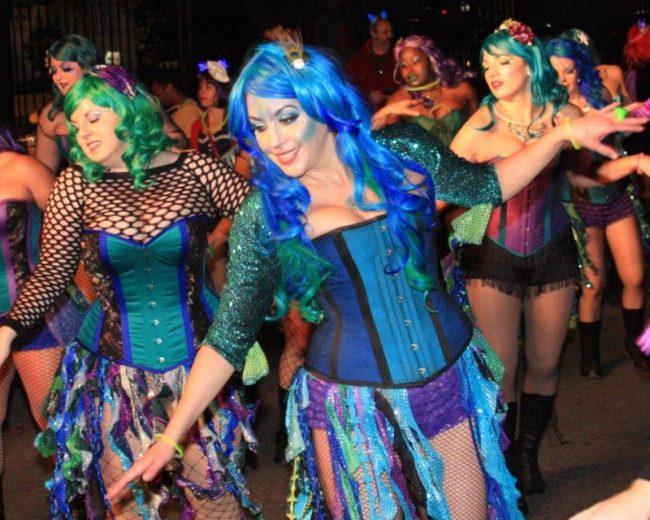 sexy nightclub dancers promotion girls dancing