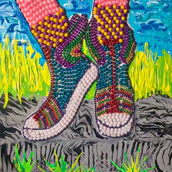 Dream Shoes Bead Art by Marc Weitz