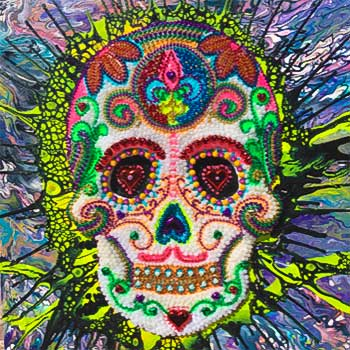 Day of Dead Bead Art by Marc Weitz