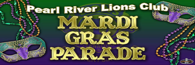 Krewe of Pearl River Lions Club logo
